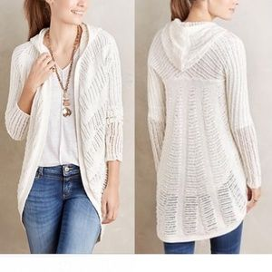Anthropologie Sweaters - ANTHROPOLOGIE Hooded Openwork Sweater Cardigan